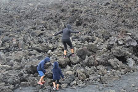 Etna con i bambini