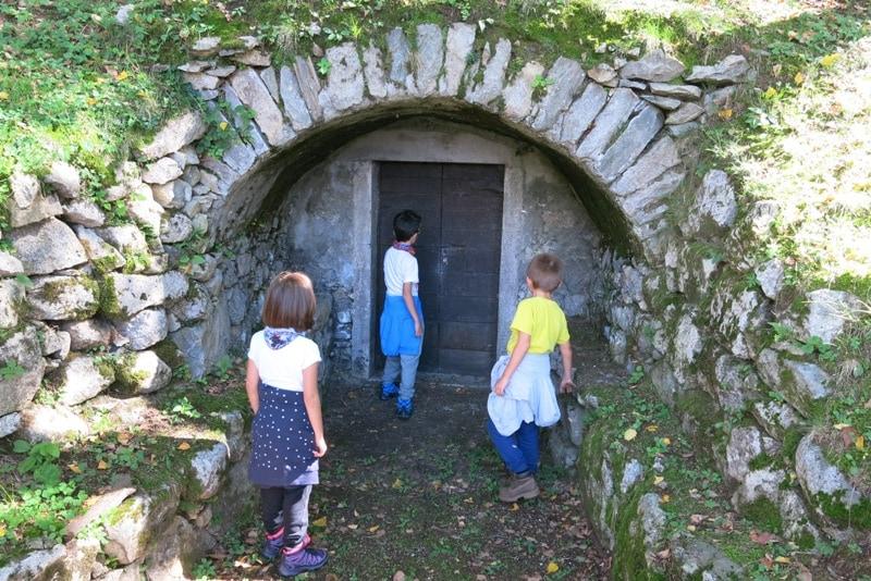 Il sentiero del tracciolino con i bambini