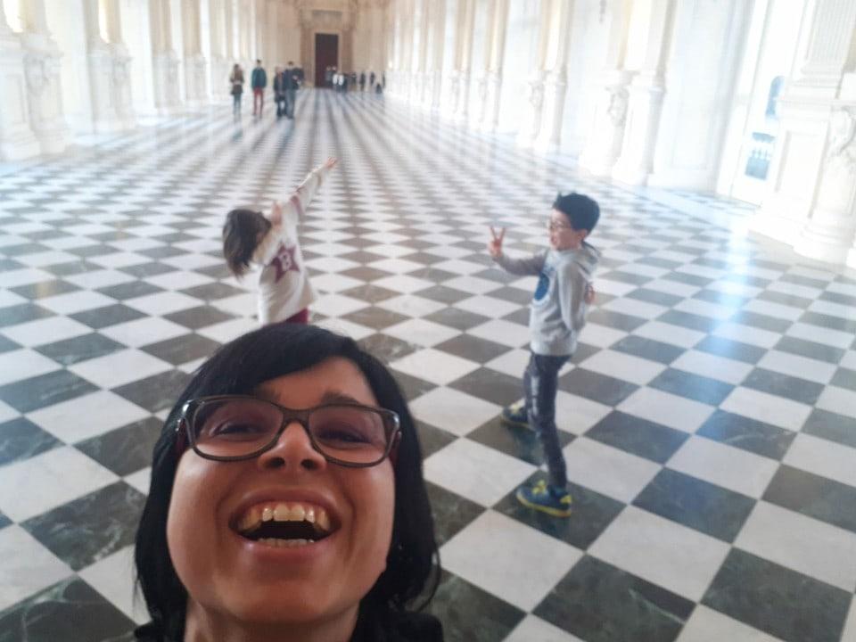 reggia di venaria reale con bambini