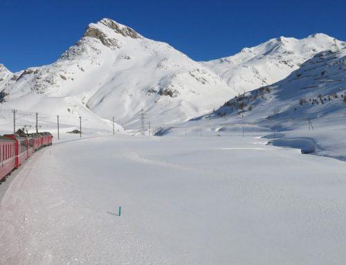 Trenino del Bernina in inverno: da Tirano fino all'Albula