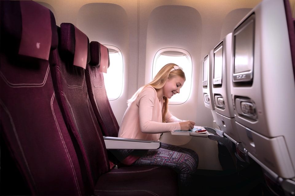 Qatar Airways con i bambini