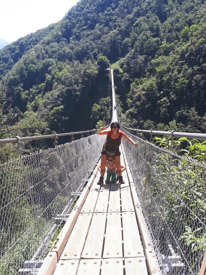 il ponte tibetano di bellinzona