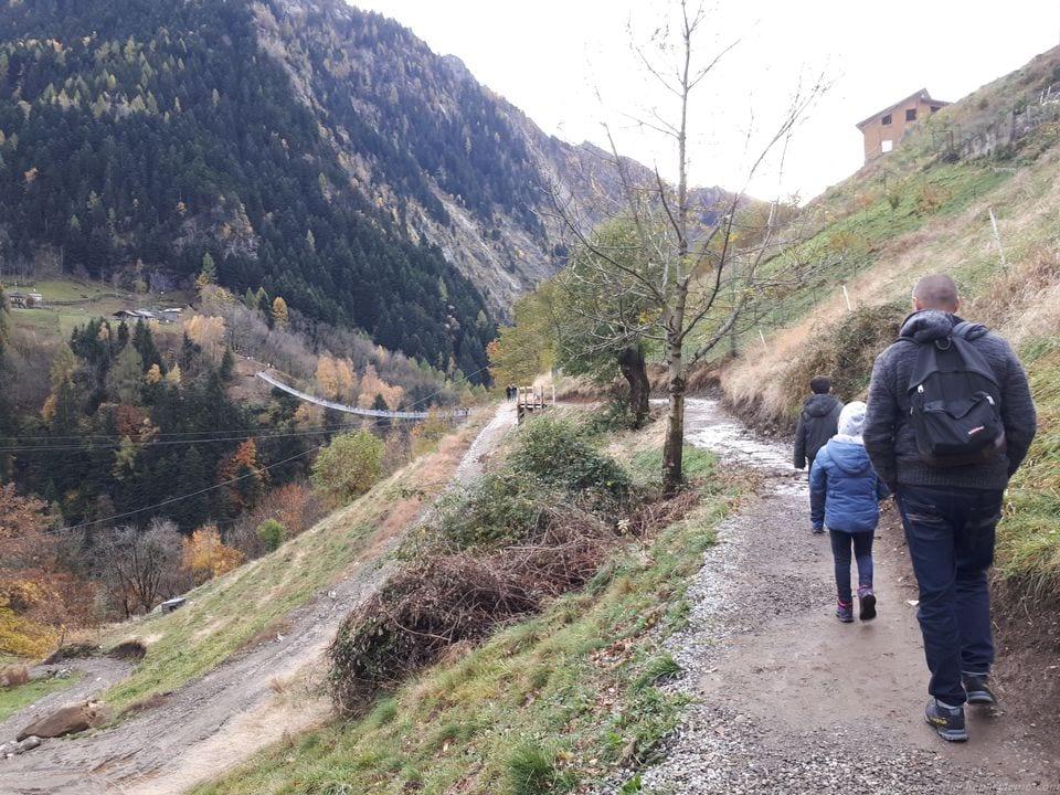 Ponte Tibetano in Valtellina