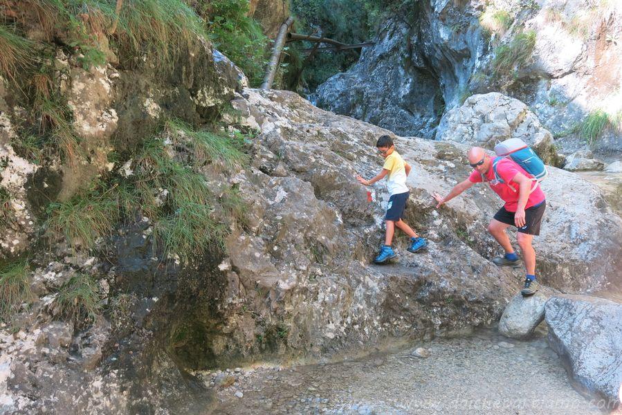 sentiero delle Vasche con bambini