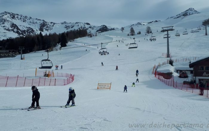 Sciare a Campodolcino con bambini